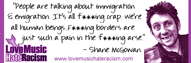 Love Music Hate Racism quote